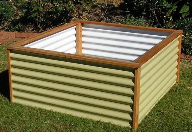 Corrugated Metal Raised Garden Bed Raised Garden Beds Raised Garden Garden Planter Boxes