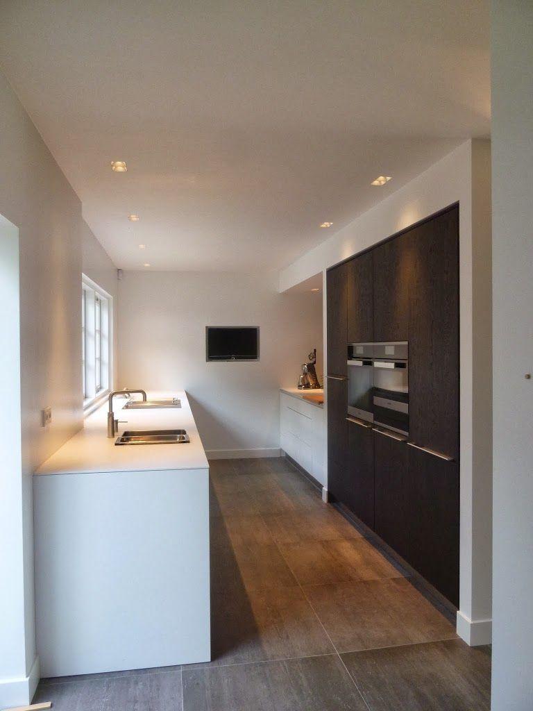 Donkere Hoge Kasten Witte Lage Kastjes Keuken Idee Keuken Design Badkamer