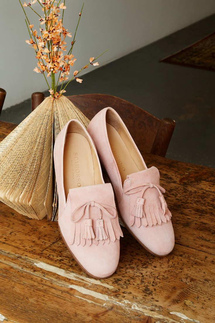 80a64d1a4d3 Our  Stella Nude Scamosciata  loafers are handcrafted on an Italian last by  our skilled