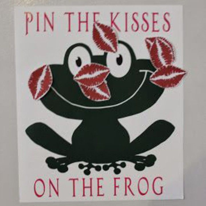 Pin the Kisses on the Frog game from Vinyl Expressions for $20.00