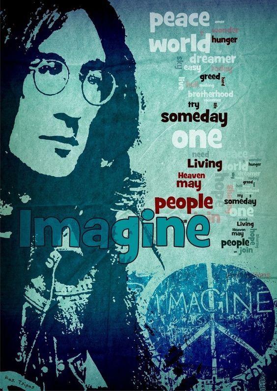 Imagine John Lennon Histoire Des Arts : imagine, lennon, histoire, Cristina, Stuardi, Beatles, Imagine, Lennon,, Lyrics,, Lennon