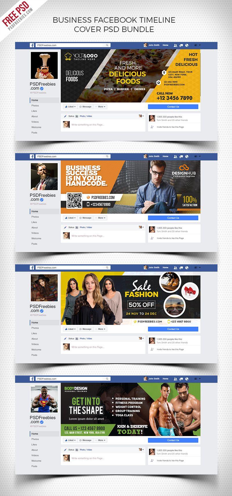 Business Facebook Timeline Cover Psd Bundle Facebook Cover