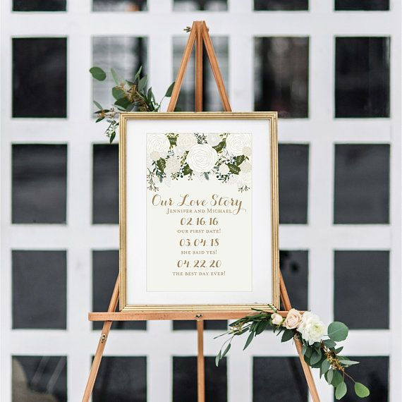 Printable Our Love Story Sign Our Love Story Printable Love Story