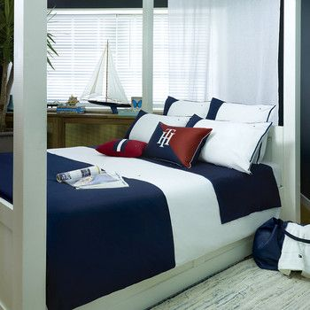 Tommy Hilfiger - Navy Colour Block Duvet Cover
