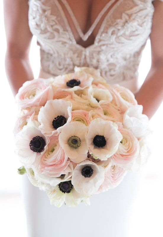 ranunculus anemones white and blush garden roses and love lots and lots