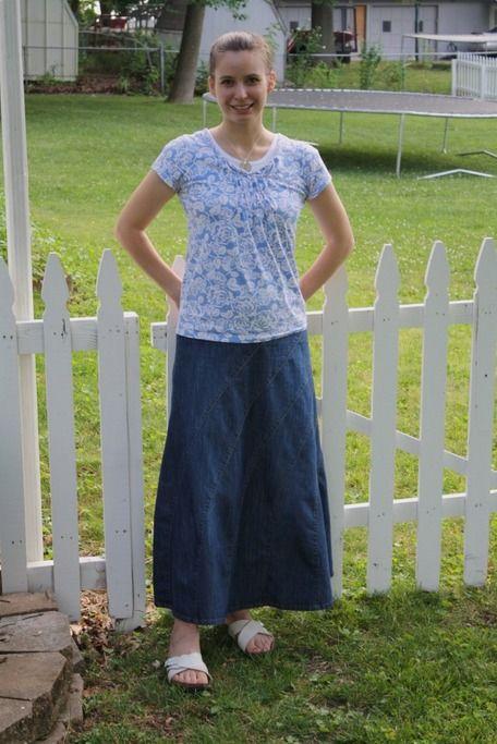 Gallery For > Modest Jean Skirt Outfits | Eerbare kleding | Pinterest
