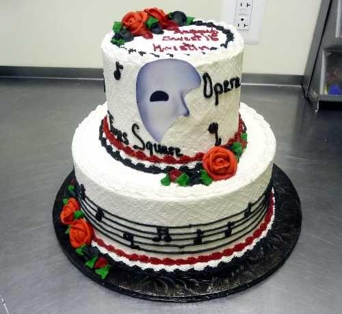 Resultado de imagen de the phantom of the opera cake