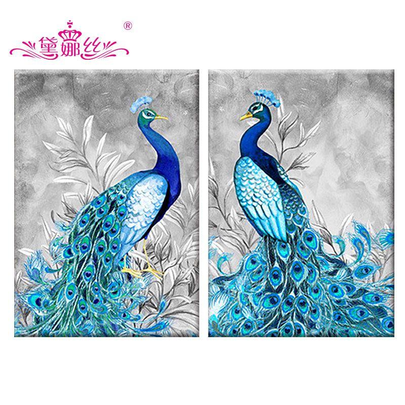 dainasi special shaped diamond embroidery animal peacock 5d diamond painting cross stitch home decoration christmas gift