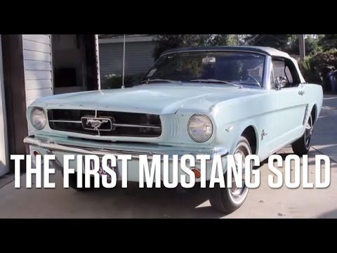 the first mustang sold at new york world s fair in april 1964 rh pinterest com