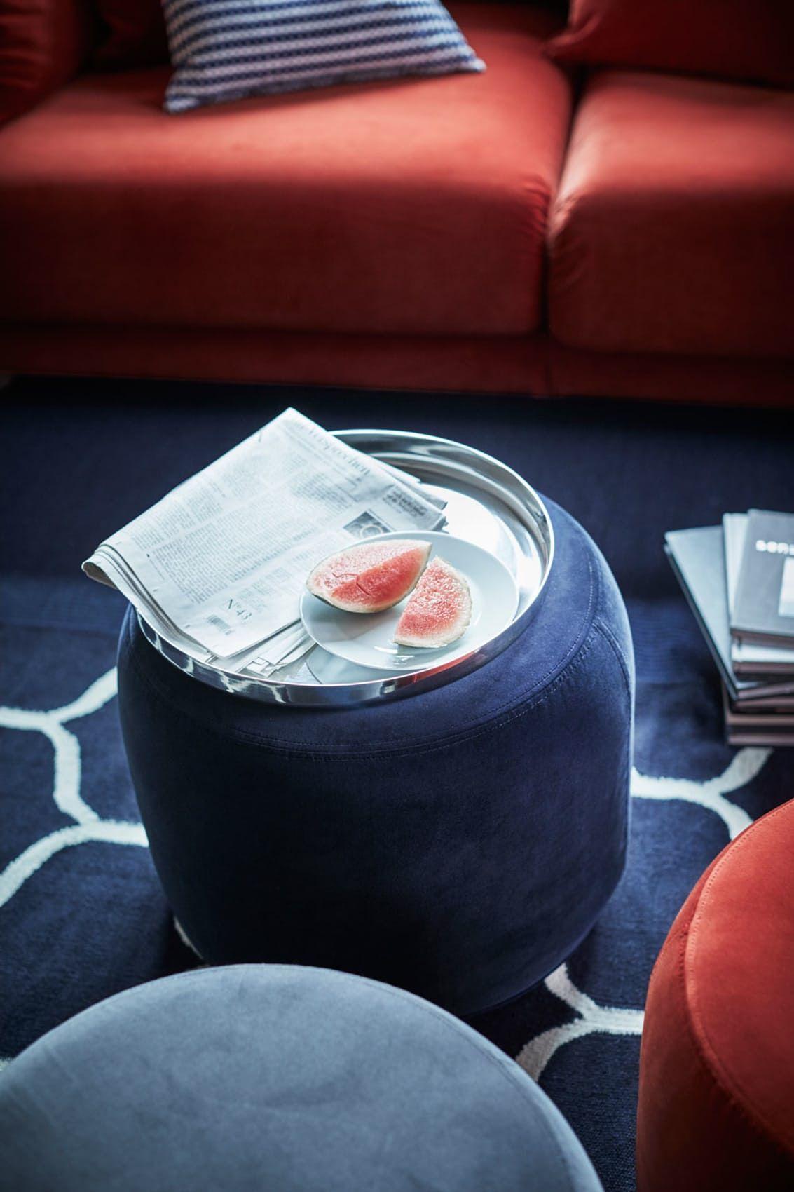 Praktisk puff sofa livingroom Pinterest