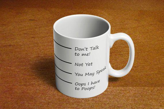 Funny Coffee Mug Sayings Poop mugs