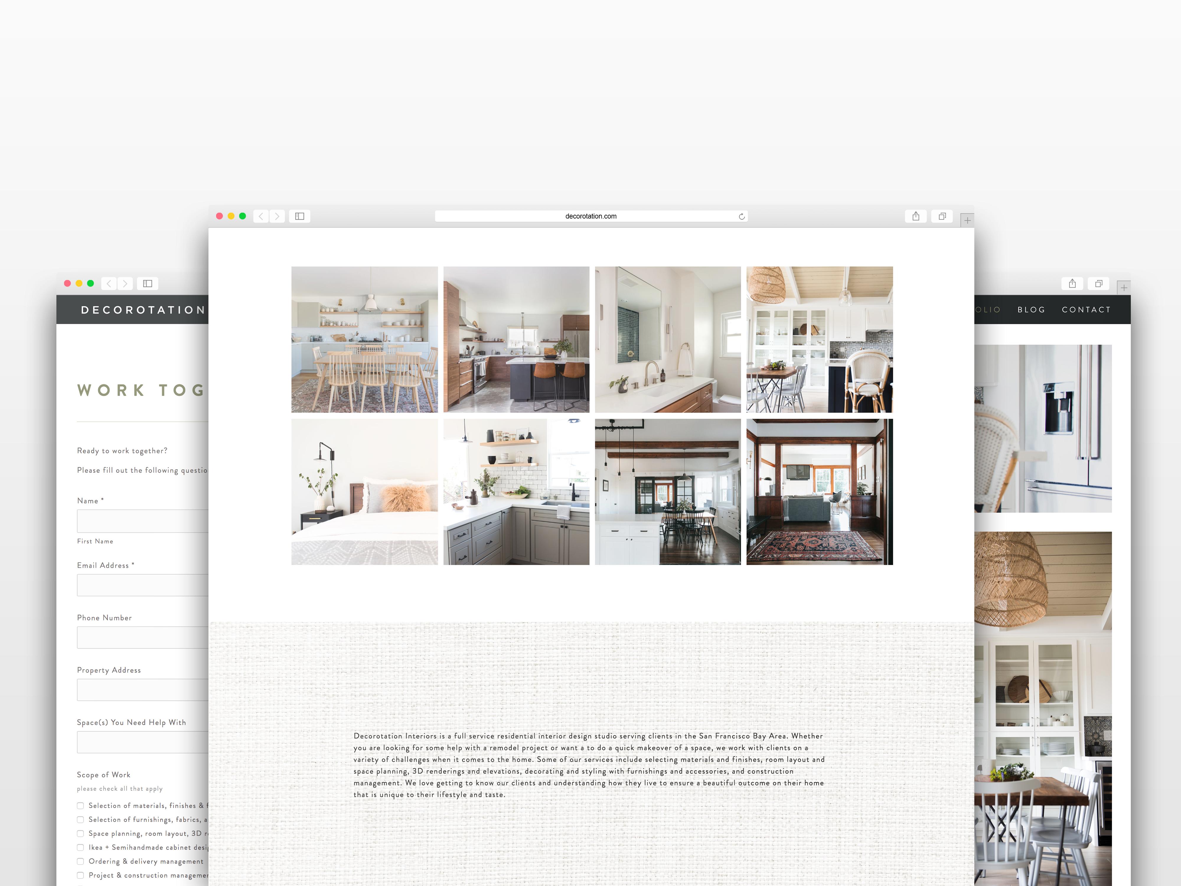 The Identite Collective Branding Web Design And Content Creation For Interior Designers And Lifestyle Brands Decorotation Brandi Web Design Design Interior