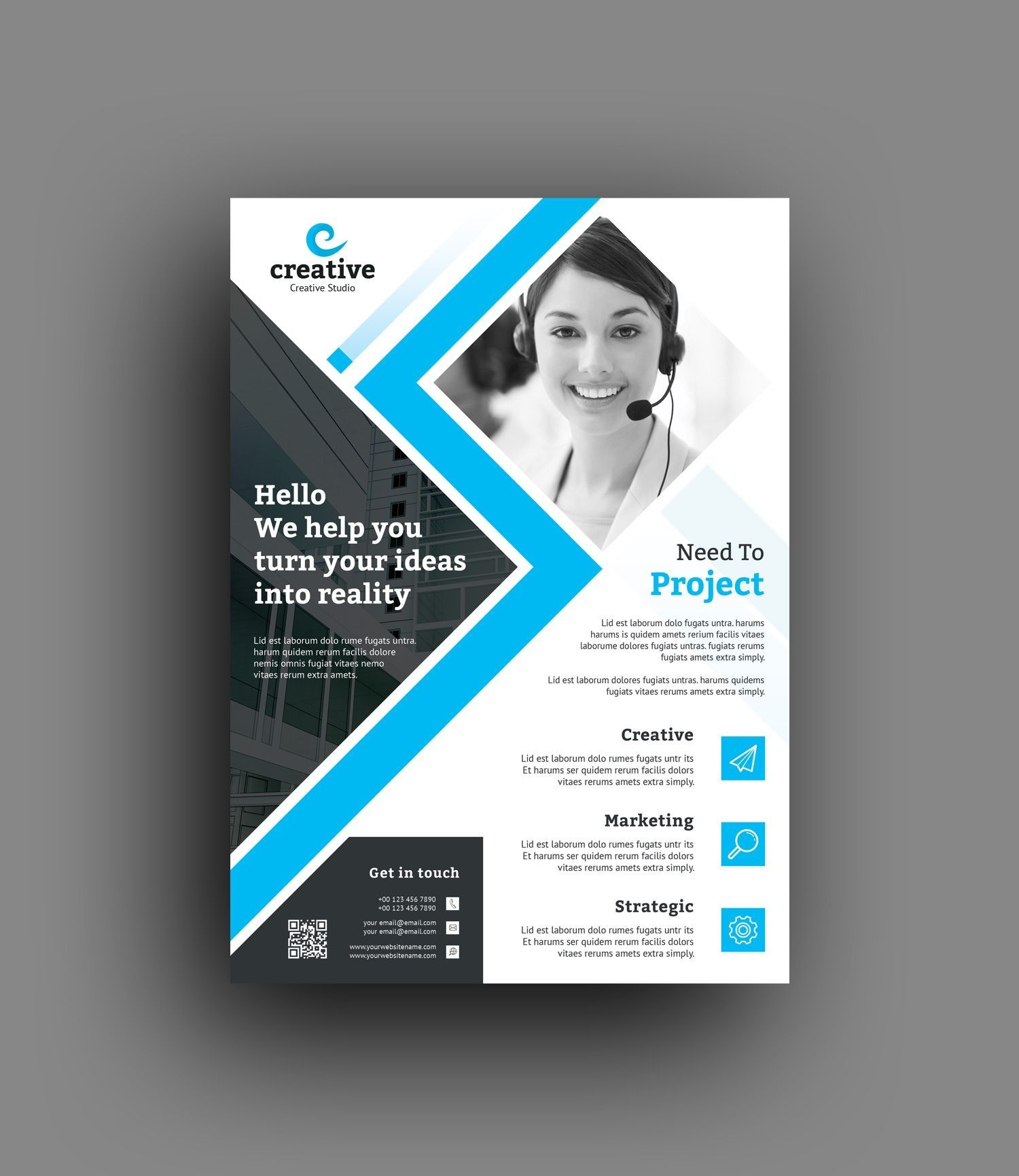Flyer Printing Template Free Printable Desain Brosur Brosur Desain Grafis
