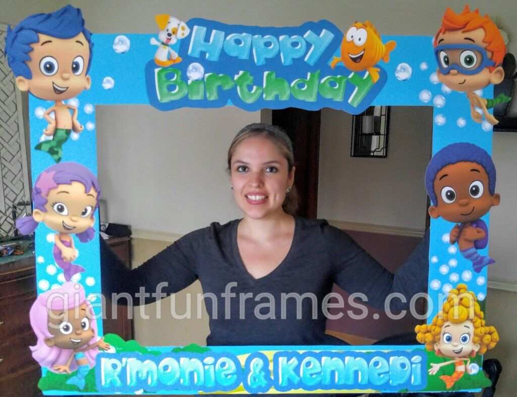 bubble guppies frame photo booth photo prop party frame by