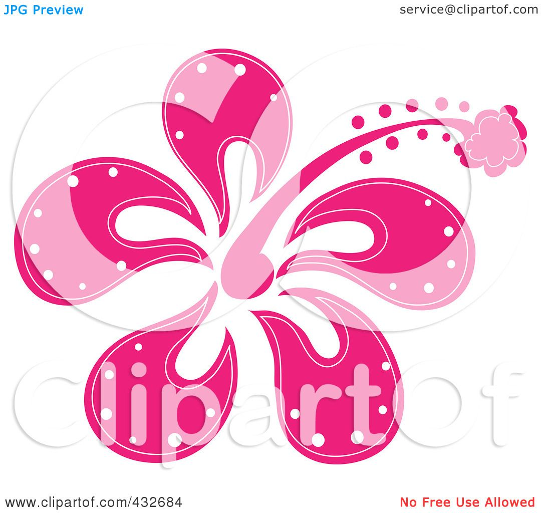 Royalty Free Rf Clipart Illustration Of A Pretty Pink Hibiscus