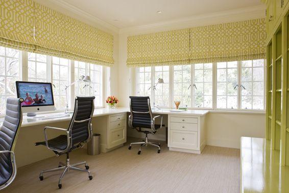 built in desk and draperies office home office sunroom rh pinterest com