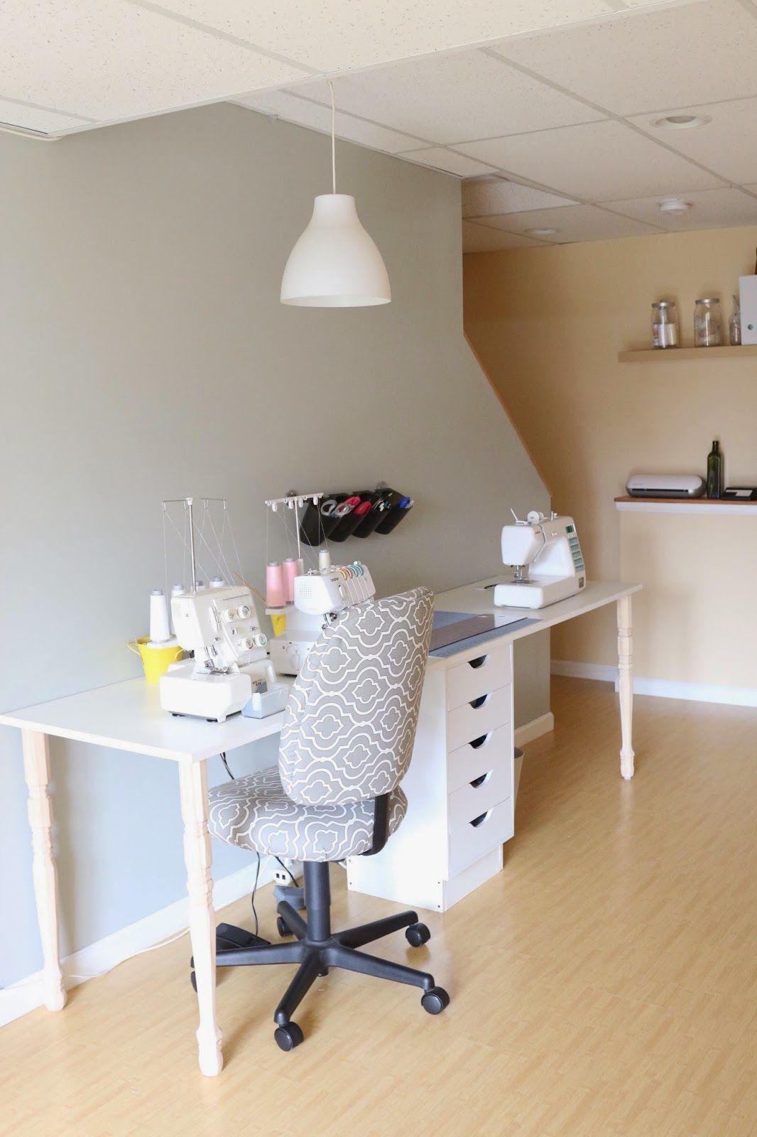 zaaberry diy ikea knockoff sewing table dream space ikea rh pinterest com