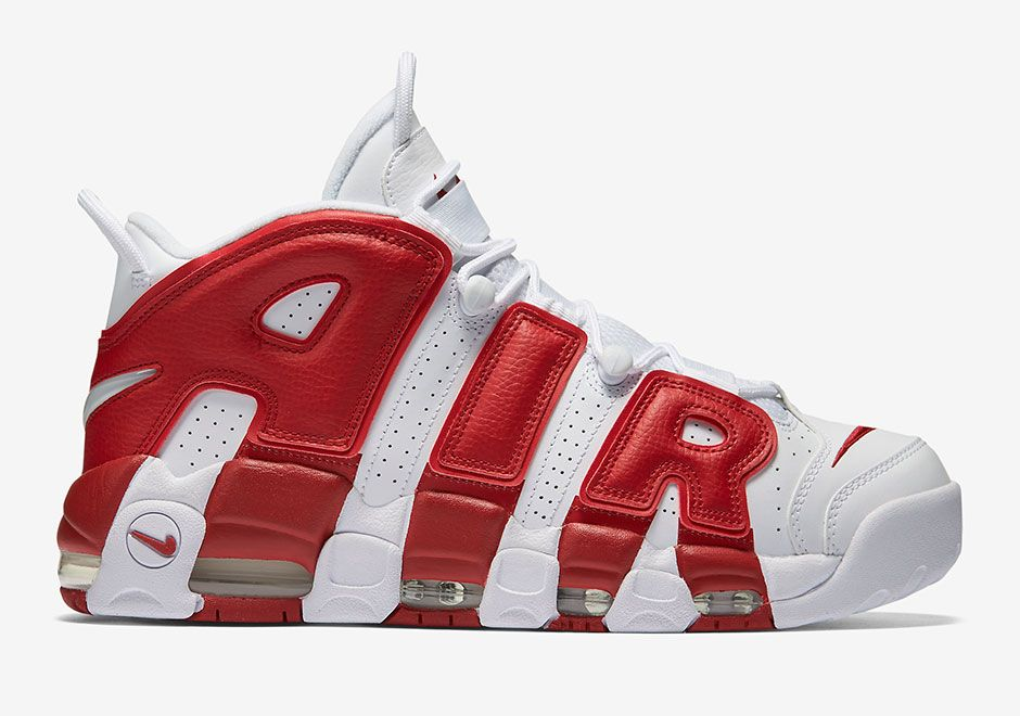 Official Images Of Nike Air More Uptempo White / Varsity Red •  KicksOnFire.com