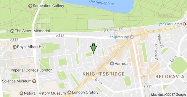 Knightsbridge London Map.Map Of 3 Montpelier Square Knightsbridge London Sw7 1jt Uk