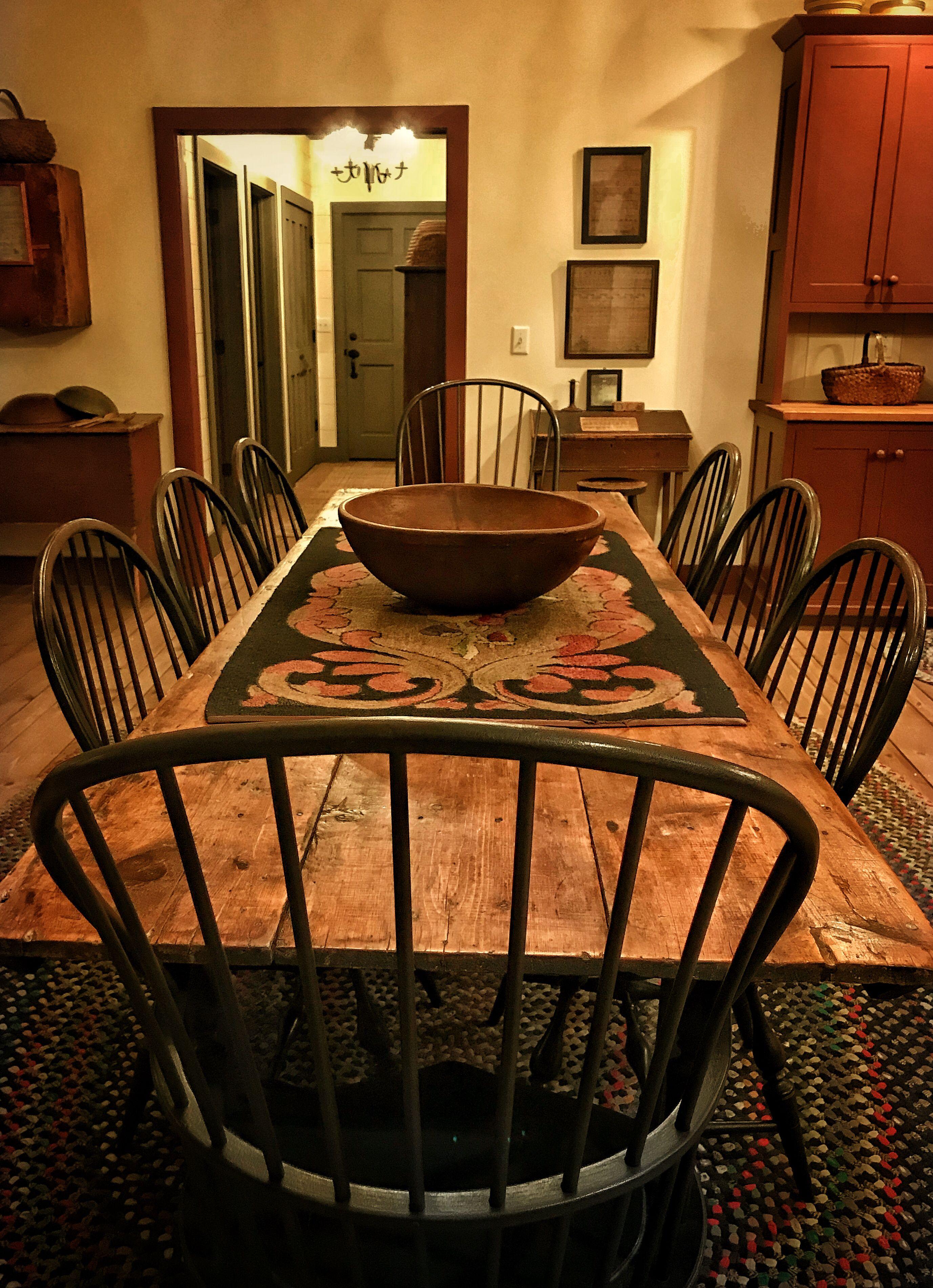 early harvest table american colonial antique myo primitive rh pinterest com au