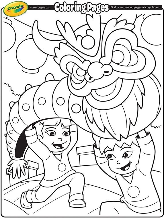 Chinese New Year Dragon On Crayola Com New Year Coloring Pages