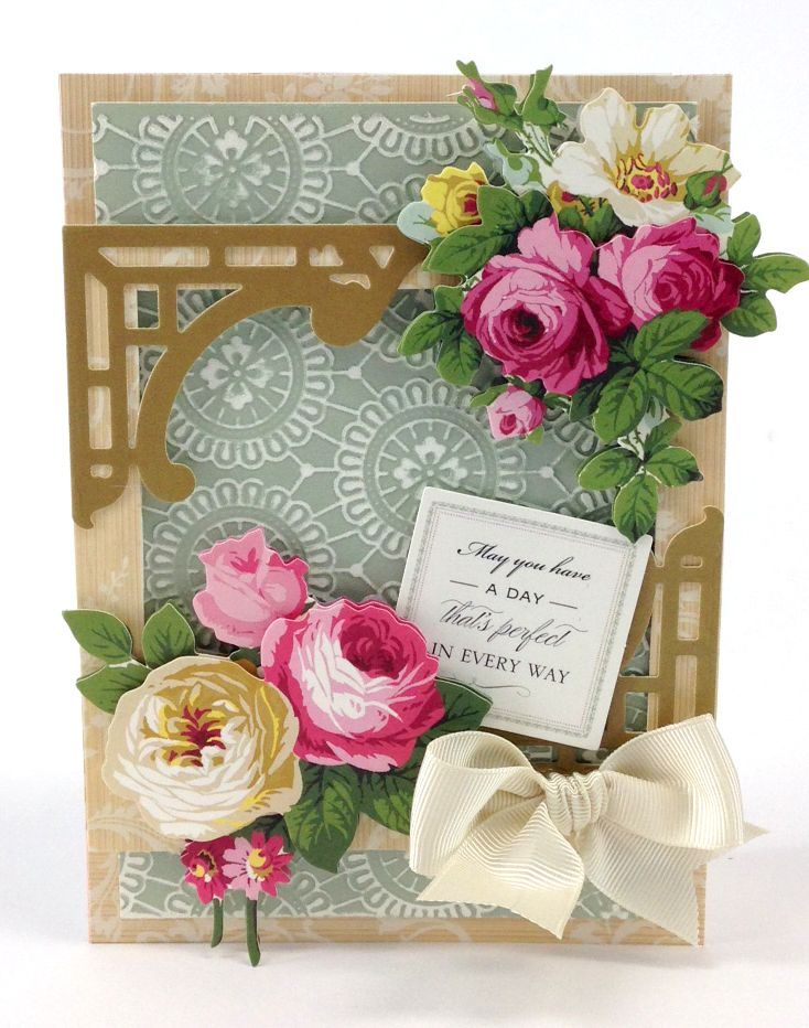 """Anna Griffin 12"""" Beautiful Border Stickers will become your """"go-to"""" set for any project, featuring intricate die cut edges and gold foil stamping. Layer them, pleat them or even emboss them!"""
