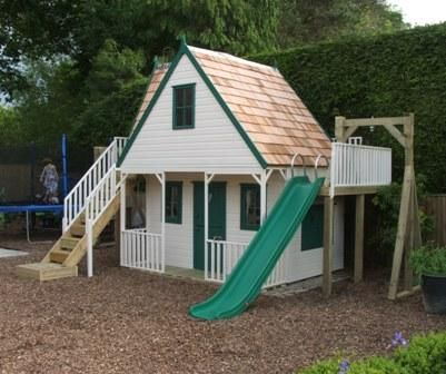 playhouses outdoor chalet style play house outside spaces in rh pinterest com