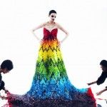 Full-Length Rainbow Gown Created Out of 50,000 Gummy Bears