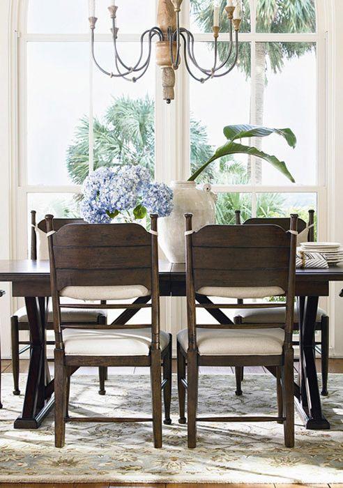 darienne dining table in distressed molasses furniture pinterest rh pinterest com