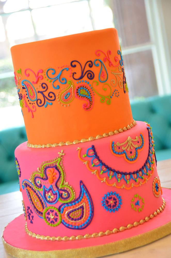 Bright Henna Print Party Cake By Beverly S Bakery Grown Up Party
