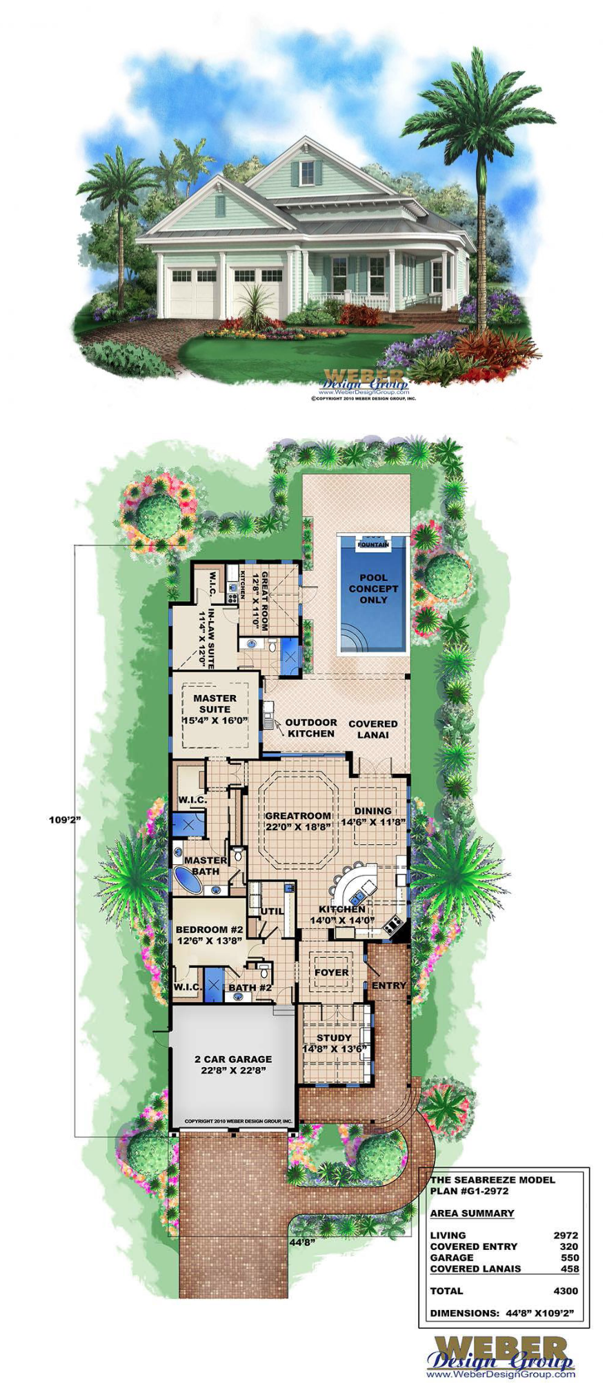 Beach House Plan Cottage Home Floor Plan For Narrow Coastal Lot Narrow House Plans Narrow Lot House Plans Garage House Plans
