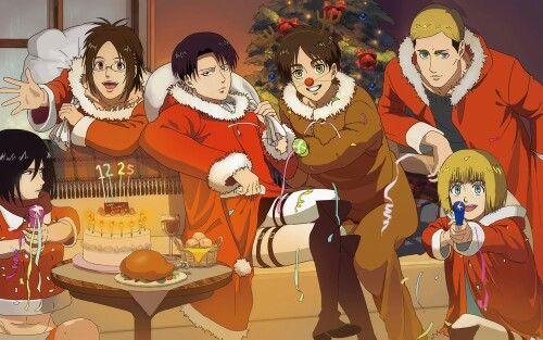 Attack On Titan Christmas Attack On Titan Anime Anime Attack On Titan Funny