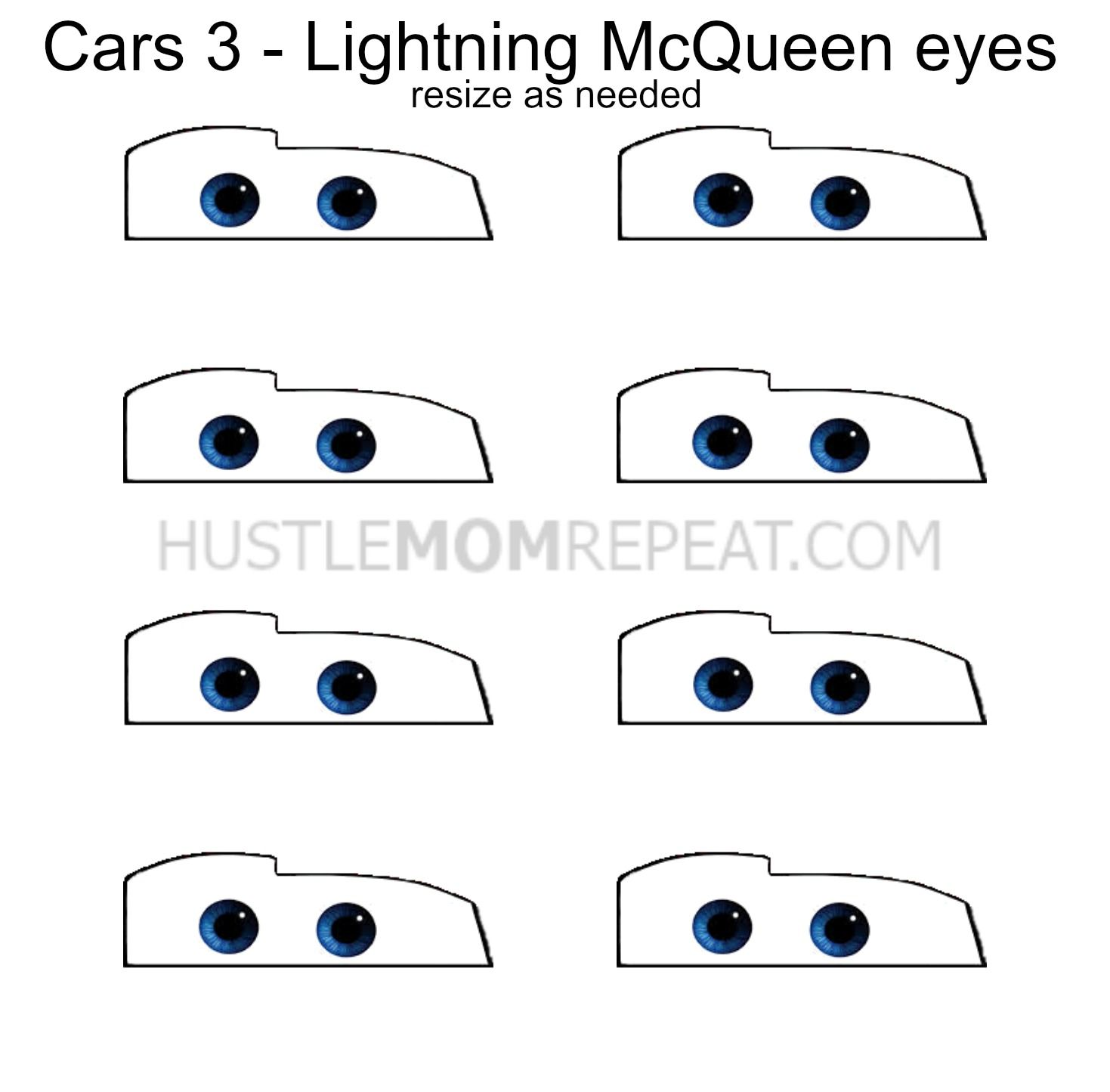 picture about Lightning Mcqueen Eyes Printable named Vehicles 3 Celebration Thought: McQueen and Ramirez Jello Cups