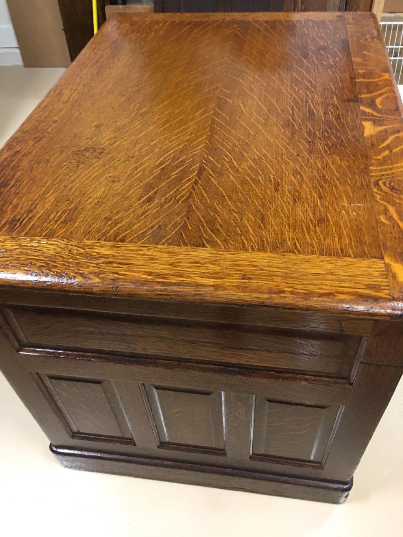 antique oak desk single pedestal carved drawer pulls modesty panel rh pinterest com
