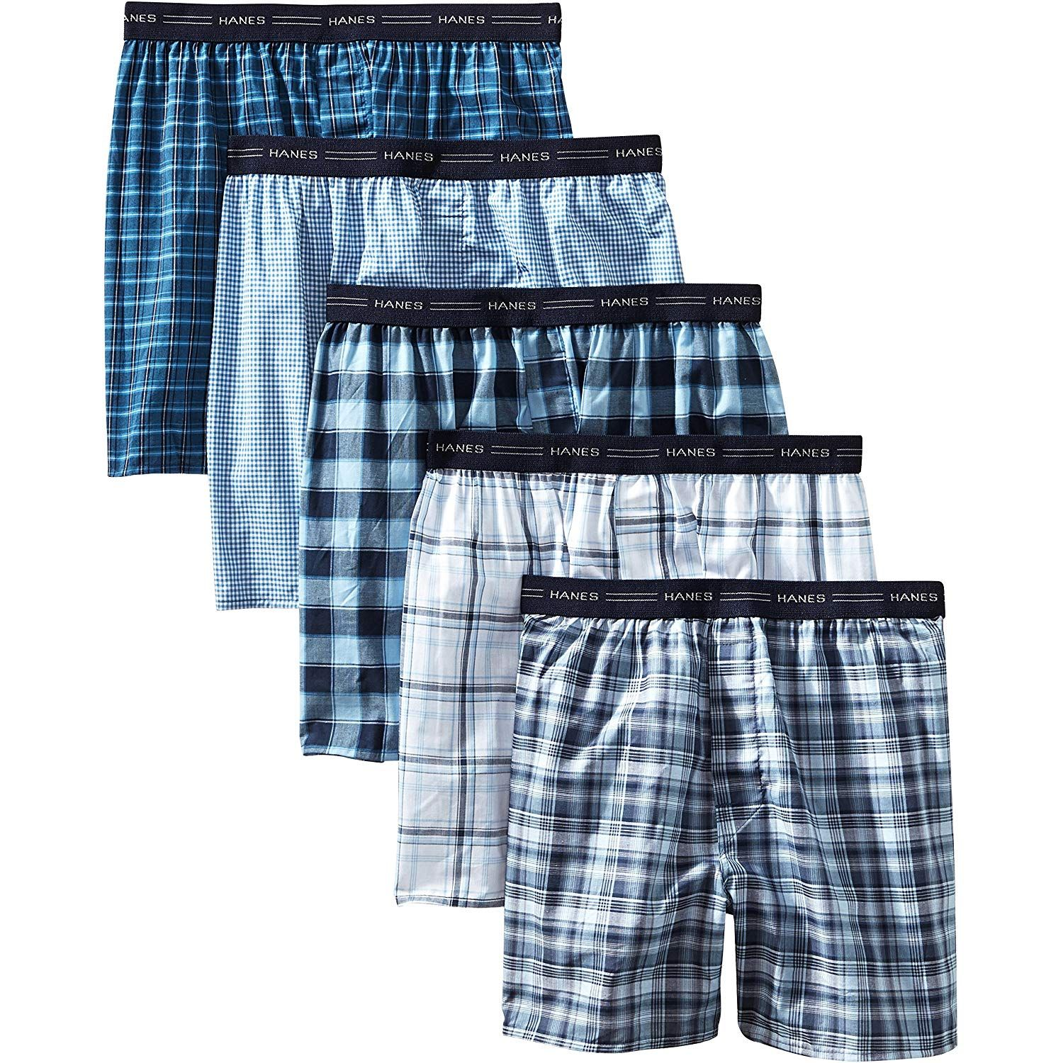 Hanes Ultimate Mens 4-Pack Big Dyed Boxer with ComfortFlex Waistband Brief XX-Large Assorted