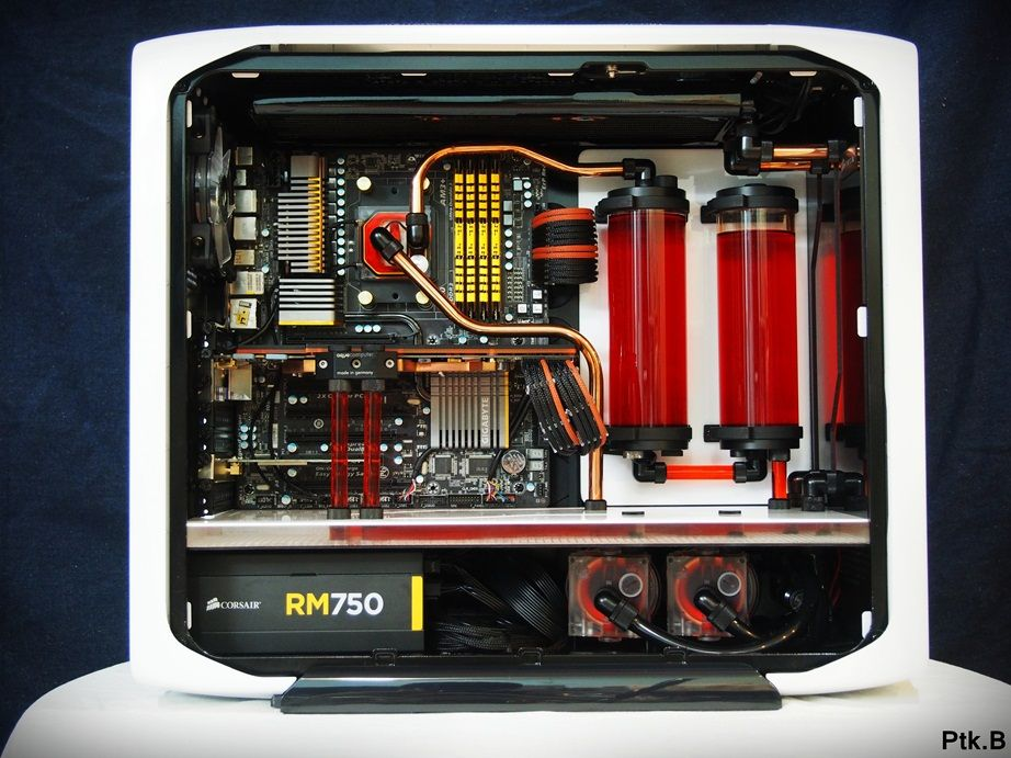 Water Cooled Corsair 780t Desktop Setup Pc Setup Gaming Pc