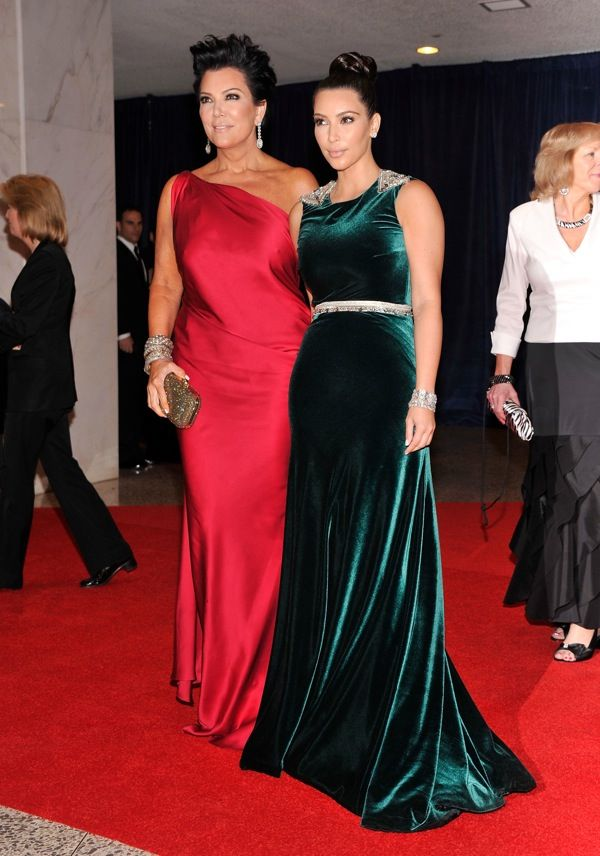 Kris Jenner and Kim Kardashian at 2012 White House Correspondents' Association Dinner