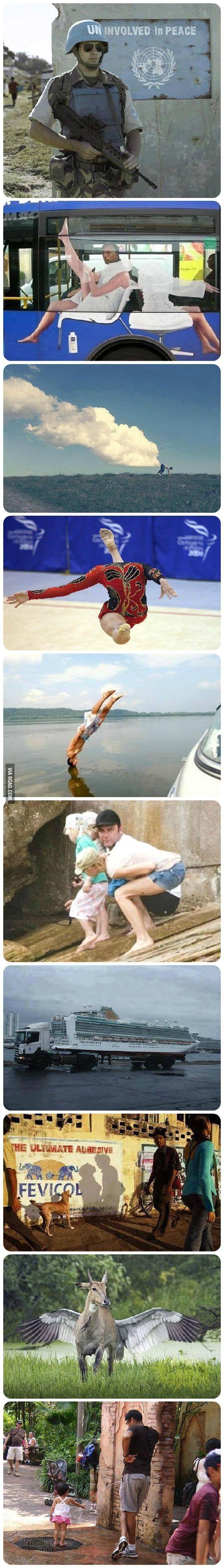 10 photos prises pile au bon moment qui offrent des illusions totalement WTF !