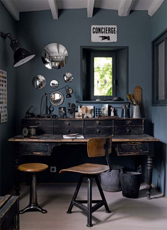 design ideas rustic and industrial home office treatment and rh pinterest com