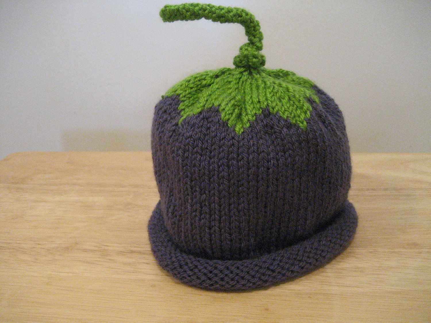 Toddler Plum Hat Knitted  Free Shipping With Purchase Of Another Item (18.00 USD) by knitsbygramma