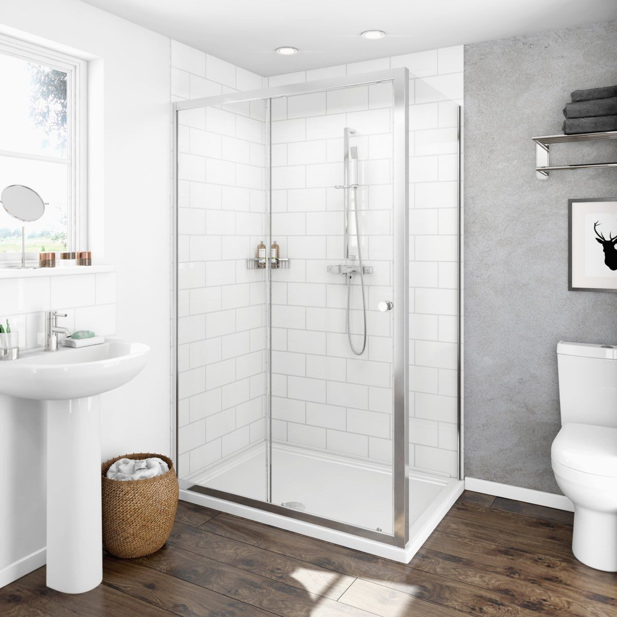 Clarity 4mm Sliding Door Shower Enclosure Shower Doors Shower Enclosure Rectangular Shower Enclosures