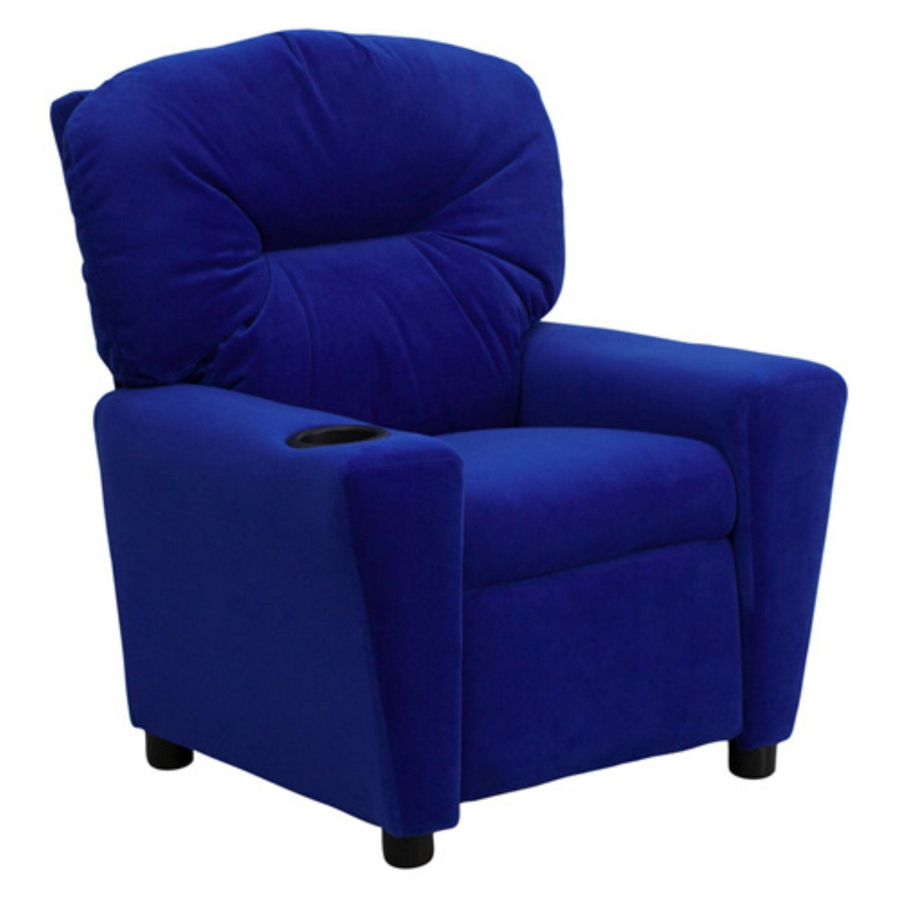 Flash furniture microfiber kids recliner with cup holder