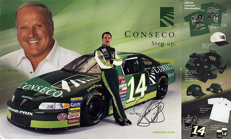 NASCAR Race Driver Mike Bliss Autograph Signed Promo Photo