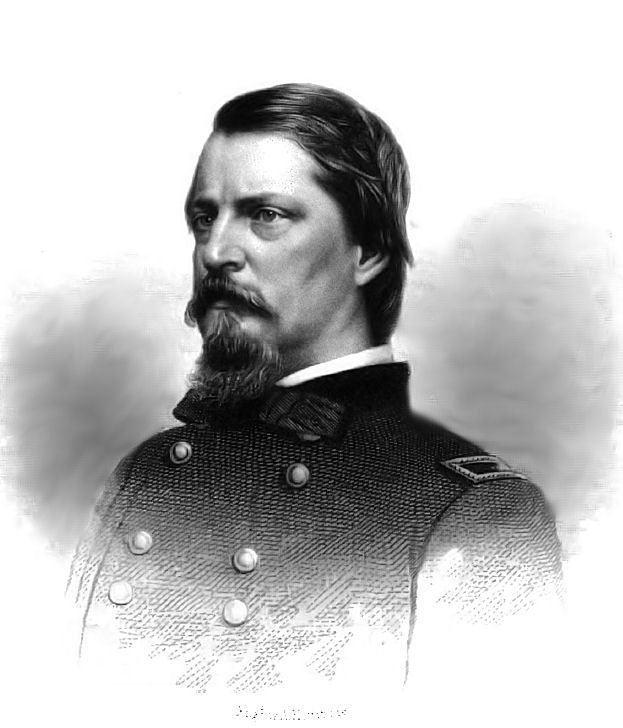 Winfield Scott Hancock (February 14, 1824 – February 9, 1886) was a career U.S. Army officer and the Democratic nominee for President of the United States in 1880. He served with distinction in the Army for four decades, including service in the Mexican-American War and as a Union general in the American Civil War.