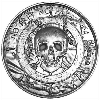 2 oz Privateer Series The Captain Privateer Ultra High Relief Silver Round
