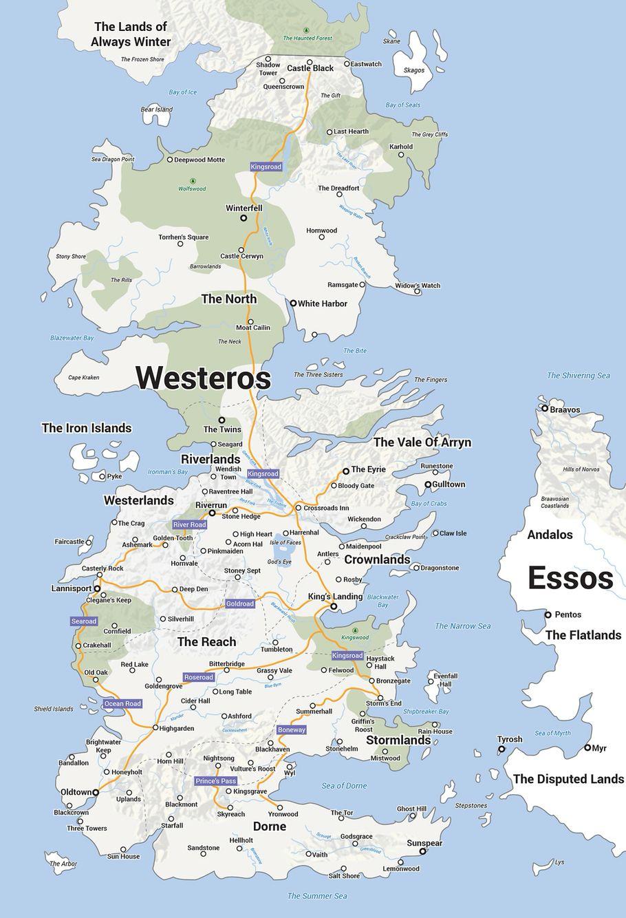Westeros Karte Interaktiv