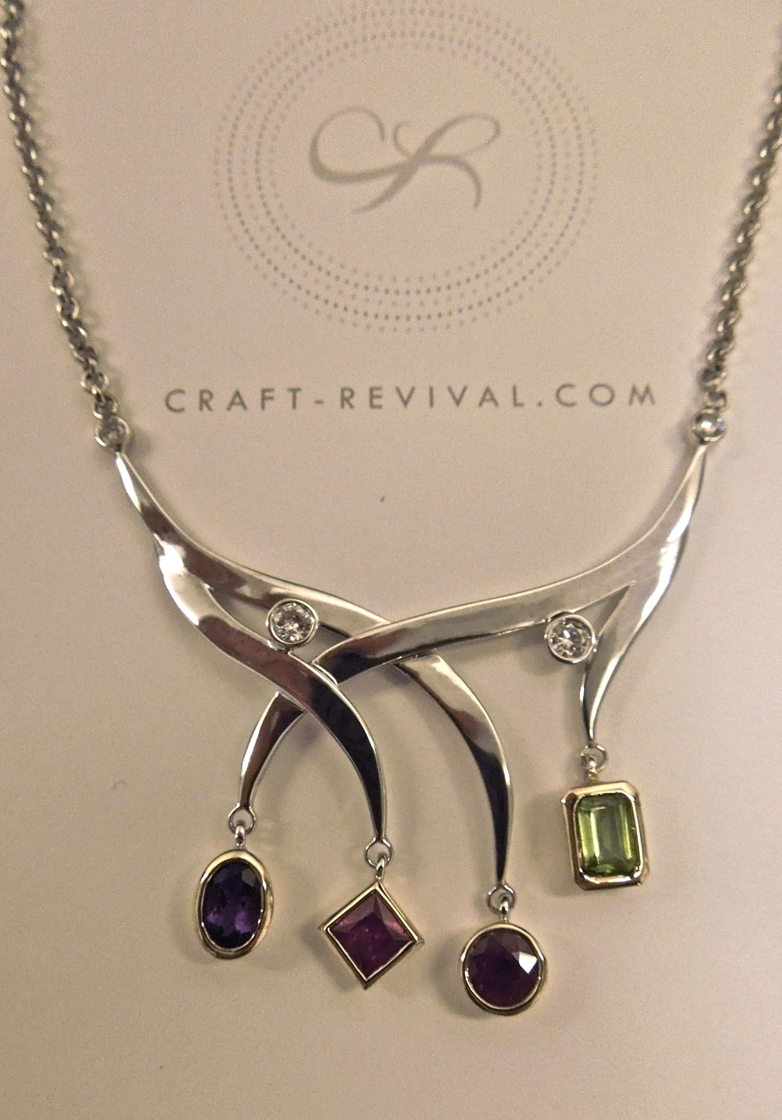 Colorful uniquely crafted necklace by Craft-Revival Jewelers