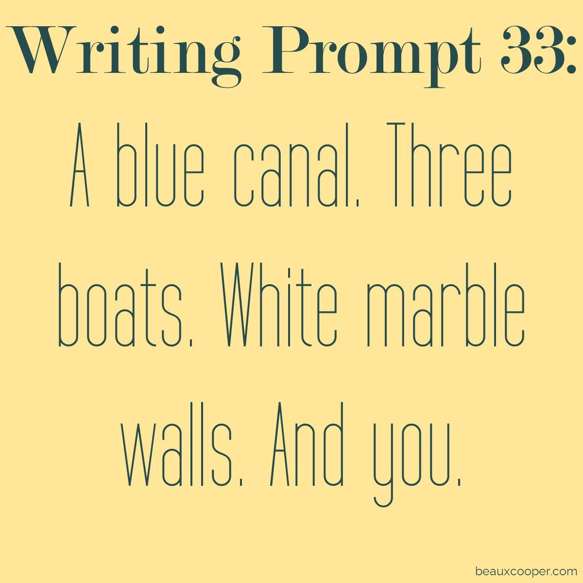 Writing Prompt Thirty Three Get Your Name Out There