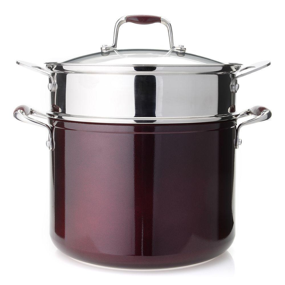 Cooks companion fourpiece 8 qt stock pot steamer