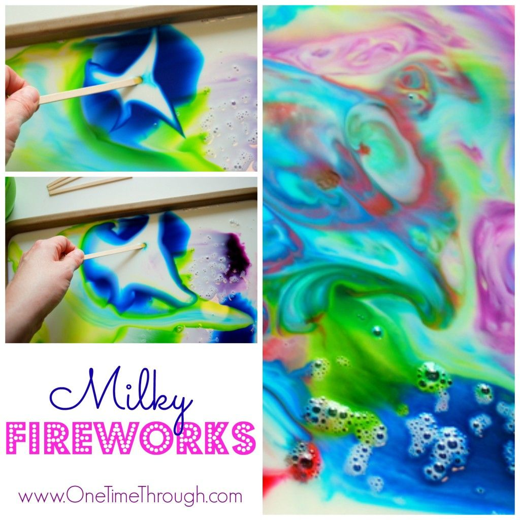 Milky Fireworks for Victoria Day | Craft